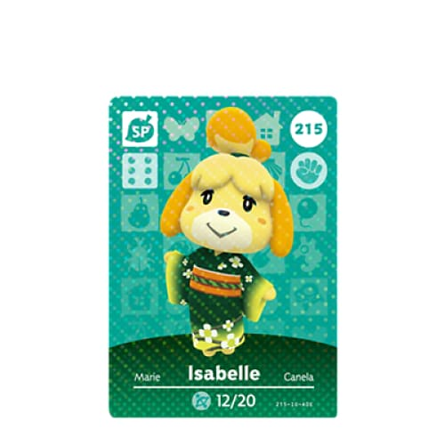 ANIMAL CROSSING: SERIES 3 - AMIIBO CARD - ISABELLE NO.215 - NINTENDO 3DS