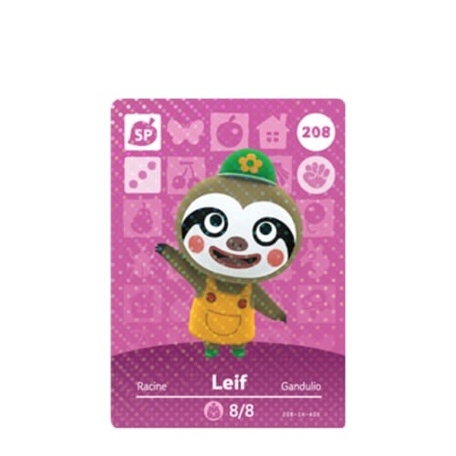 ANIMAL CROSSING: SERIES 3 - AMIIBO CARD - LEIF NO.208 - NINTENDO 3DS