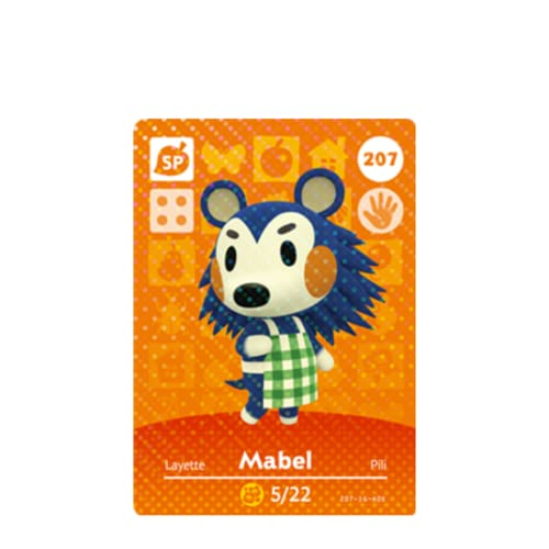 ANIMAL CROSSING: SERIES 3 - AMIIBO CARD - MABEL NO.207 - NINTENDO 3DS