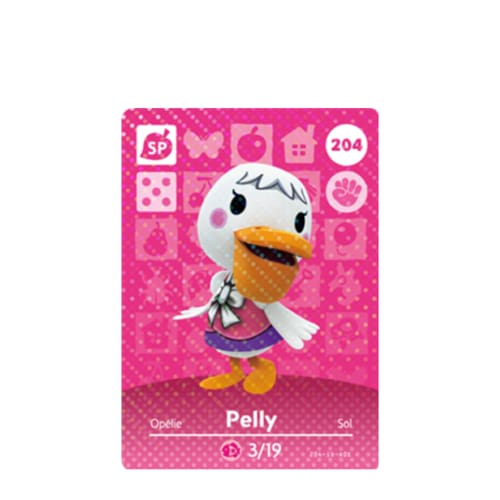 ANIMAL CROSSING: SERIES 3 - AMIIBO CARD - PELLY NO.204 - NINTENDO 3DS