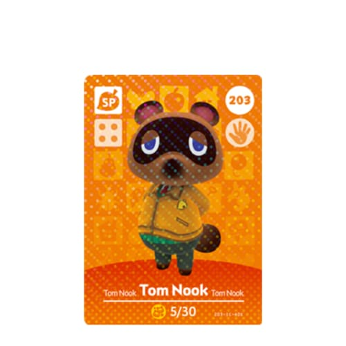 ANIMAL CROSSING: SERIES 3 - AMIIBO CARD - TOM NOOK NO.203 - NINTENDO 3DS