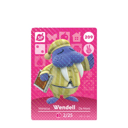 ANIMAL CROSSING: SERIES 3 - AMIIBO CARD - WENDELL NO.209 - NINTENDO 3DS
