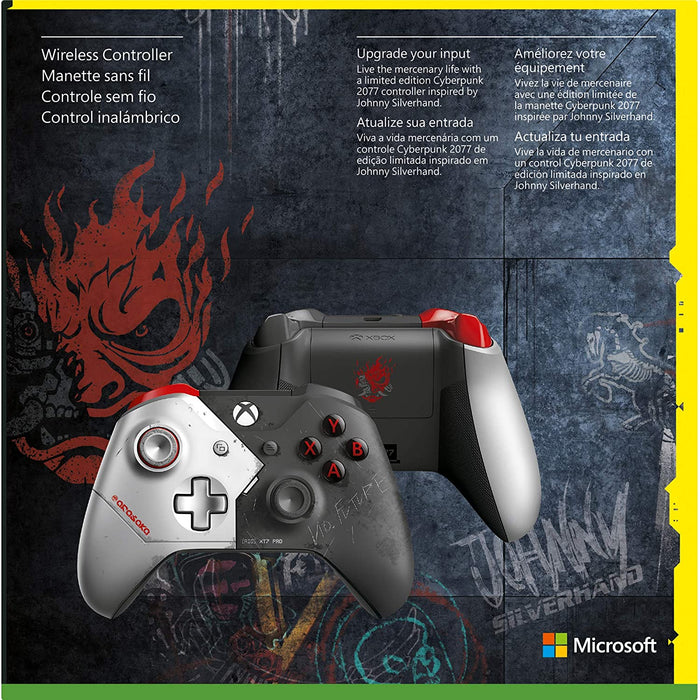 MICROSOFT XBOX ONE WIRELESS CONTROLLER - CYBERPUNK 2077 LIMITED EDITION