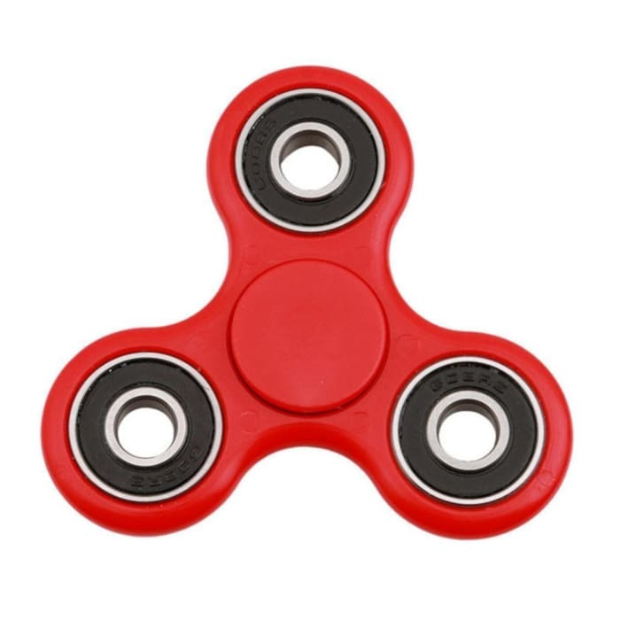 FIDGET FINGER SPINNER - ANTI STRESS TOY / AUTISM / ADHD - RED