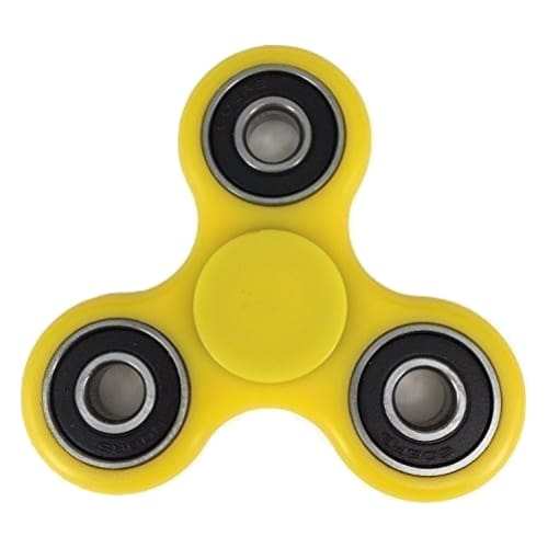 FIDGET FINGER SPINNER - ANTI STRESS TOY / AUTISM / ADHD - YELLOW