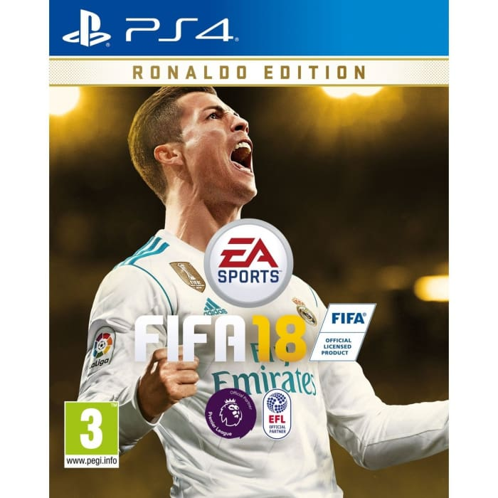 FIFA 18 RONALDO EDITION & FIFA STEELBOOK CASE PS4