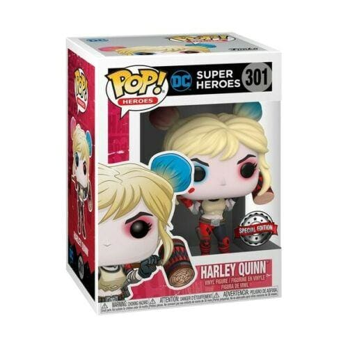 FUNKO POP HEROES DC SUPER #301 HARLEY QUINN SPECIAL EDITION BRAND