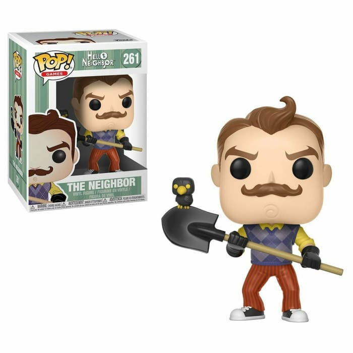 FUNKO POP VINYL HELLO NEIGHBOUR WITH SHOVEL #263