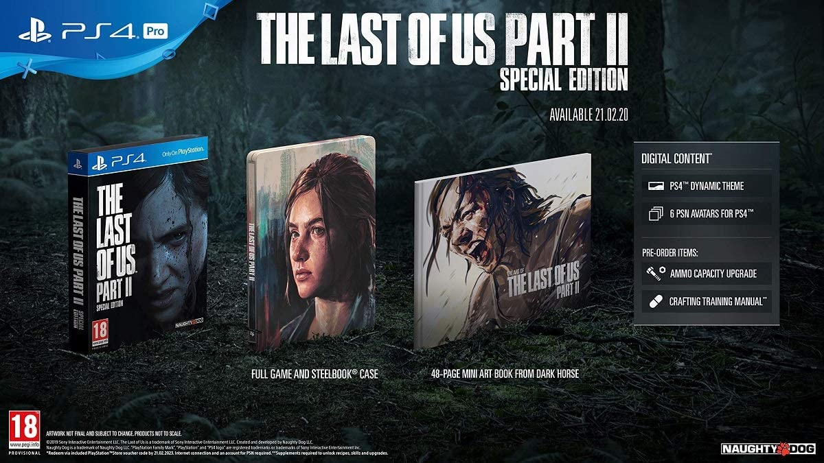 THE LAST OF US PART II: SPECIAL EDITION - PS4 GAME