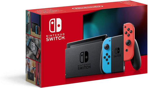 NINTENDO SWITCH CONSOLE - NEON RED & BLUE