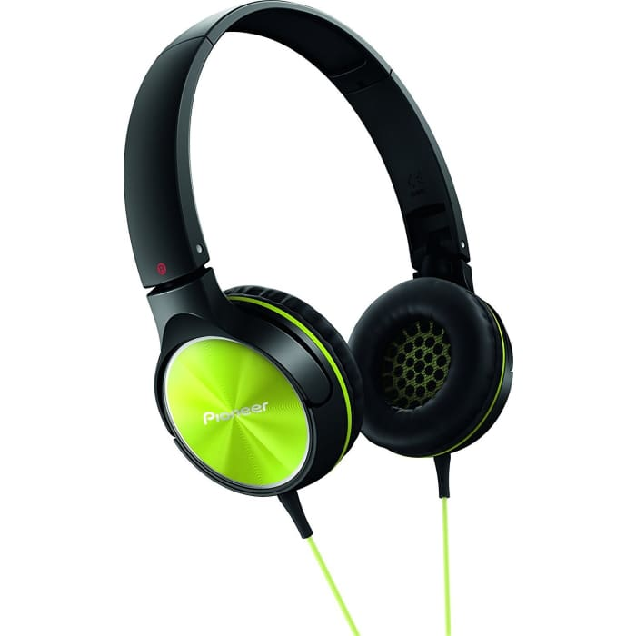 PIONEER SE-MJ522-Y FULLY ENCLOSED DYNAMIC HEADPHONE - LIME