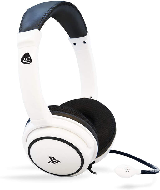 4GAMERS PRO4-40 STEREO GAMING HEADSET FOR PS4 - WHITE