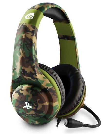 4GAMERS PRO4-70 CAMO STEREO GAMING HEADSET FOR PS4 - WOODLAND EDITION