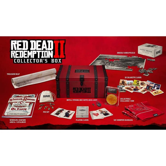 RED DEAD REDEMPTION 2 COLLECTORS BOX (NO GAME INCLUDED)