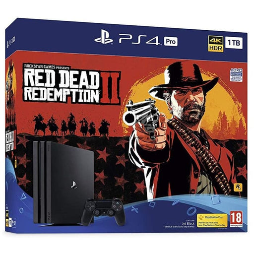 SONY PLAYSTATION PRO 1TB RED DEAD REDEMPTION 2 CONSOLE BUNDLE - BLACK