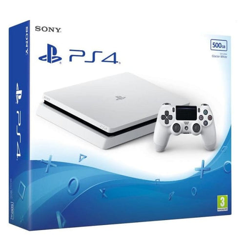 SONY PLAYSTATION PS4 500GB SLIM CONSOLE - GLACIER WHITE