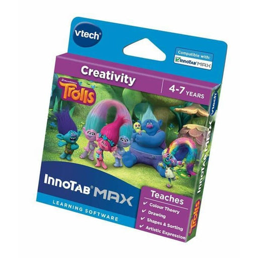 VTECH INNOTAB MAX TROLLS ACTIVITY SET LEARNING SOFTWARE GAME CREATIVITY
