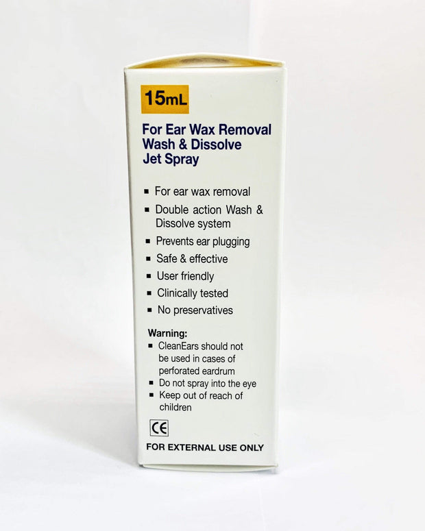 Clean Ears - 2 In 1 Complete Ear Wax Removal Spray. Dissolves Ear Wax Fast  And Irrigates The Ears. Simply Spray And Go! Safe For Babies Above 3 Months (15ml)