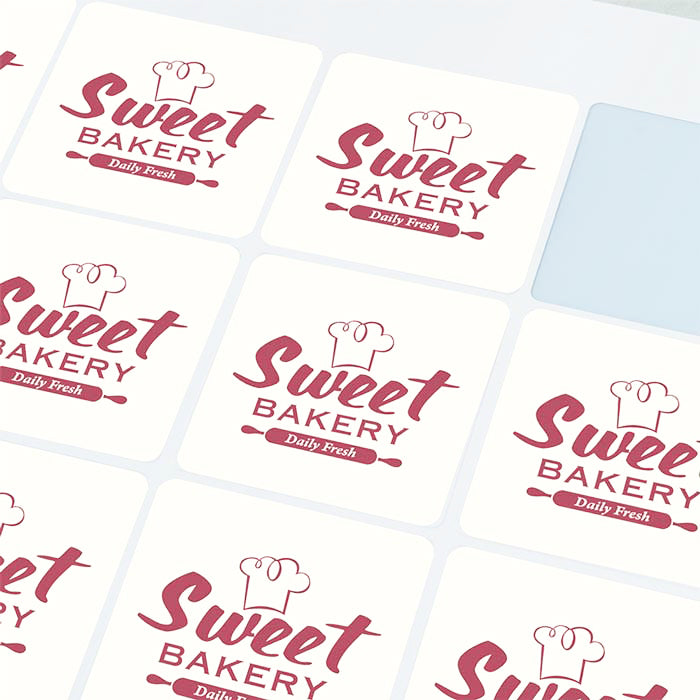 Square Custom Kiss Cut/ Die Cut Stickers