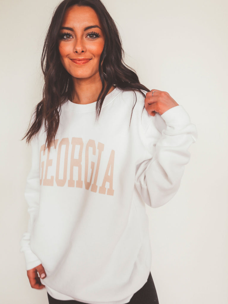 GEORGIA NEUTRAL FEELS SWEATSHIRT