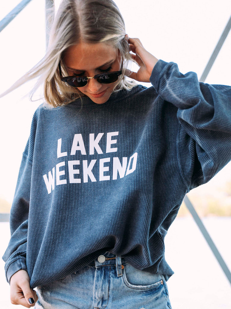 PREORDER: LAKE WEEKEND CORDED SWEATSHIRT