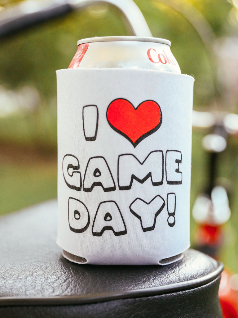I HEART GAMEDAY DRINK SLEEVE