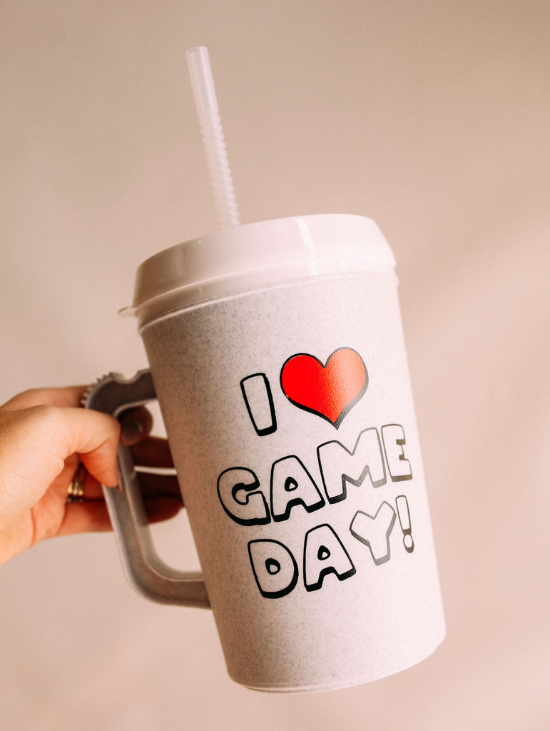 I HEART GAMEDAY 34oz. MUG