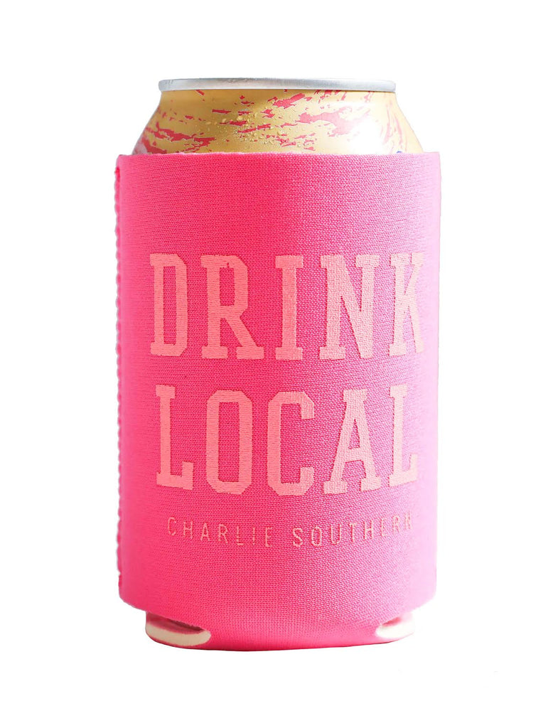 Drink Local Koozie Pink