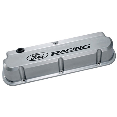 FORD RACING 289-351 SLANT EDGE VALVE COVER POLISHED - Ford Performance