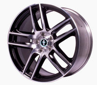 "MUSTANG BOSS 302S FRONT WHEEL 19""X9"" - GLOSS BLACK WITH MACHINED FACE - Ford Performance"
