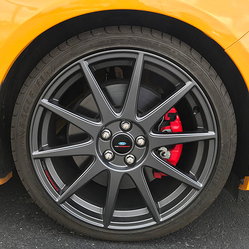"2013-2018 FOCUS ST FORD PERFORMANCE 19""X 8"" MATTE GRAY WHEEL SET WITH TPMS KIT - Ford Performance"