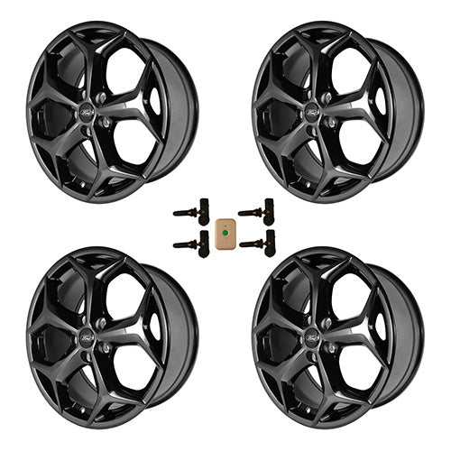 "2012-2018 FOCUS ST 18"" X 8"" WHEEL SET WITH TPMS KIT - GLOSS BLACK - Ford Performance"