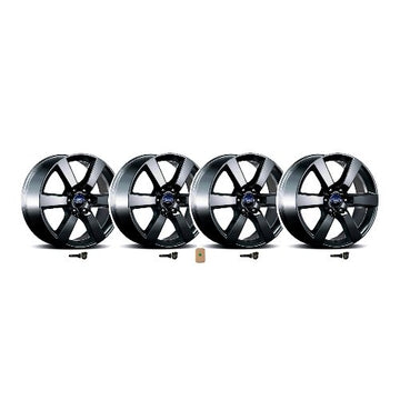 "2015-2019 F-150 20"" X 8.5"" Six Spoke Wheel Set With TPMS Kit - Matte Black"