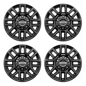 "2005-2019 F-Super Duty 20"" X 8"" Premium Black Painted Aluminum Wheel Package With TPMS Kit"