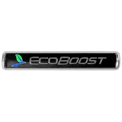 ECOBOOST EMBLEMS/BADGES-BLACK AND SILVER-PAIR - Ford Performance
