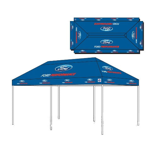 FORD PERFORMANCE 10' X 20' E-Z UP TENT - Ford Performance