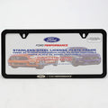 Ford Performance Slim License Plate Frame-Black Stainless Steel