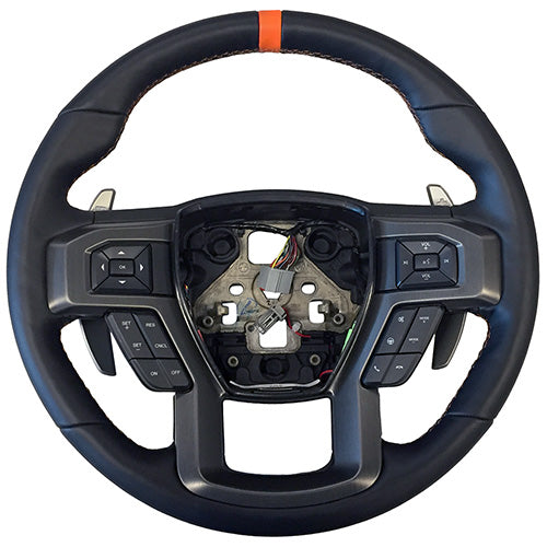 2015-2018 F-150 RAPTOR PERFORMANCE STEERING WHEEL KIT- ORANGE SIGHTLINE - Ford Performance