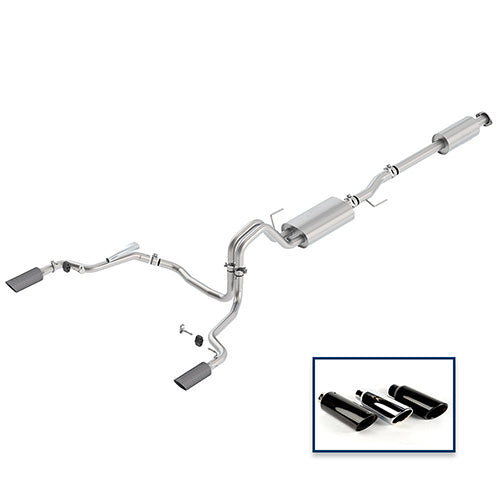 2015-2019 F-150 3.5L CAT-BACK TOURING EXHAUST SYSTEM - REAR EXIT, CARBON FIBER TIPS - Ford Performance