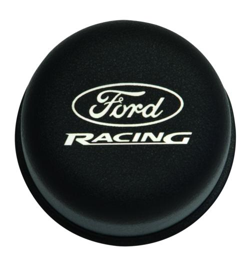 BLACK BREATHER CAP W/ FORD RACING LOGO - Ford Performance