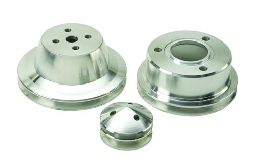 1965-1969 MUSTANG BILLET SINGLE GROOVE PULLEY SET - Ford Performance