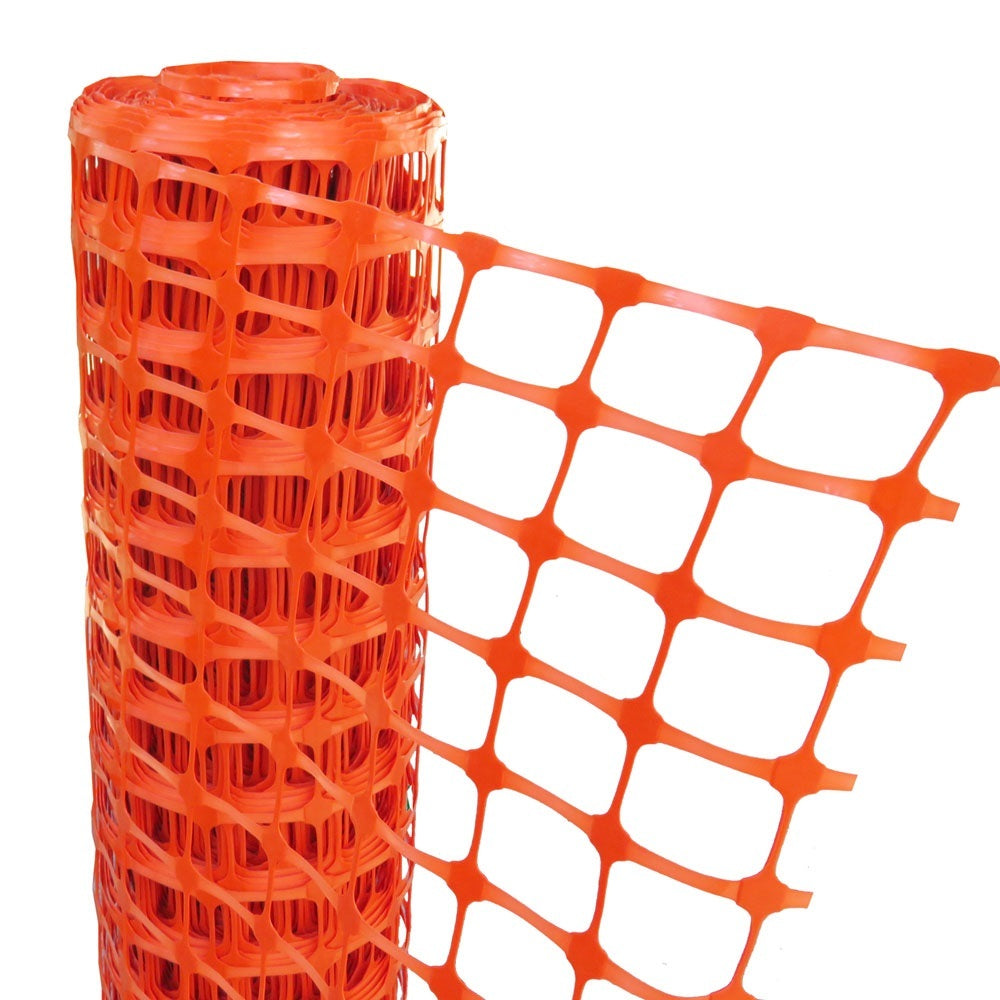 Orange Barrier Fence 50m x 1m