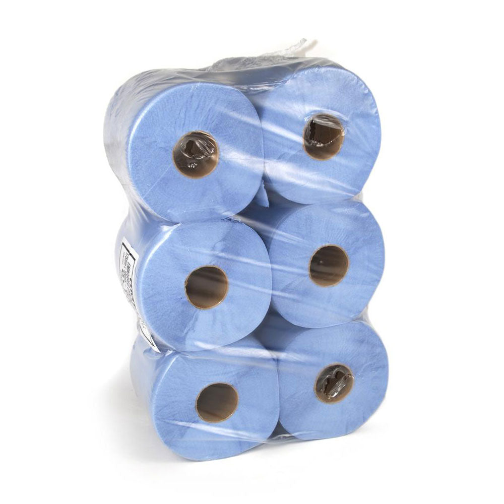 2 ply Blue Paper Towel - pack of 6