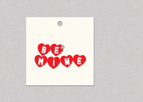 Be Mine Swarovski Crystal Gift Tags