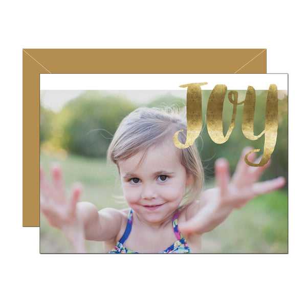 Golden Joy Holiday Photo Card