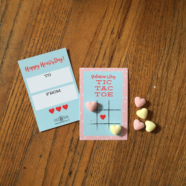 Tic Tac Toe Valentines Cards (Set of 15)