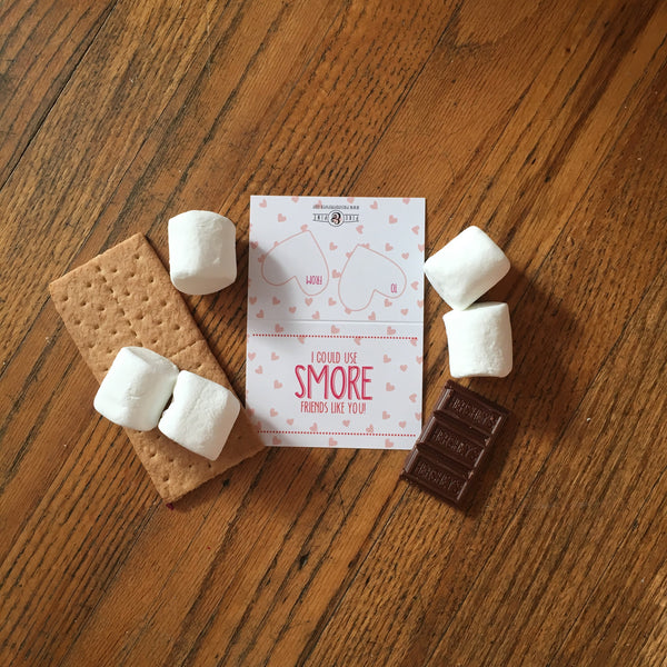 S'more Valentines Tags & Bags (Set of 15)