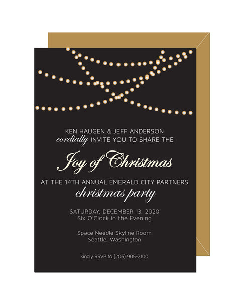 Holiday Lights Invitation (Set of 10)
