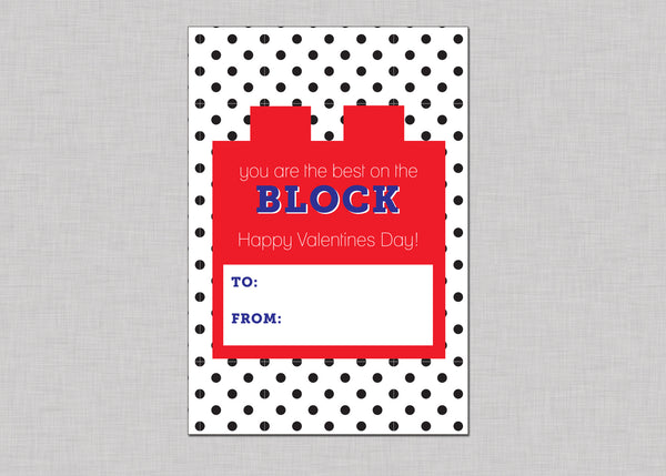 Lego Valentines Cards (Set of 15)