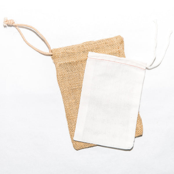 Muslin Drawstring Bags (Pack of 5)